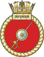 British Navy HMS HMS Defender (D36), emblem