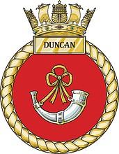 British Navy HMS Duncan (D37), emblem