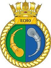 British Navy HMS Echo (H87), emblem (crest)