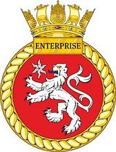 British Navy HMS Enterprise (H88) emblem