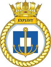 British Navy HMS Exploit (P167), emblem (crest)