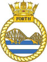 British Navy HMS Forth (P222), crest