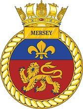British Navy HMS Mersey (P287), emblem