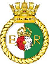 British Navy HMS Queen Elizabeth (R08), aircraft carrier crest