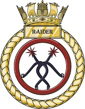British Navy HMS Raider (P275), emblem