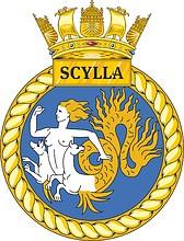 British Navy HMS Scylla (F71), crest