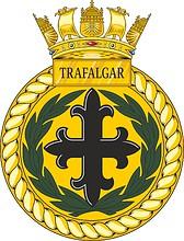 British Navy HMS Trafalgar (S107), emblem (crest)