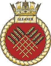 British Navy HMSML Gleaner (H86), emblem