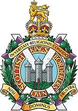 King`s Own Scotish Borderers, badge (emblem)