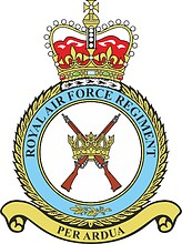 British Royal Air Force Regiment (RAF Regt), emblem