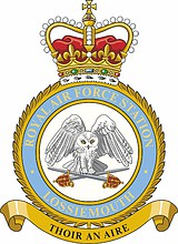 British RAF Station Lossiemouth, badge (emblem)