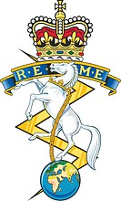 British Royal Electrical and Mechanical Engineers (REME), emblem (badge)