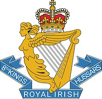 British 8th King`s Royal Irish Hussars, emblem (badge)