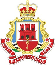 Brtish Army Royal Gibraltar Regiment, badge