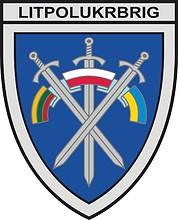 Lithuanian–Polish–Ukrainian Brigade (LITPOLUKRBRIG), emblem