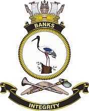 HMAS Banks (G244), emblem