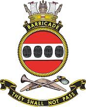 HMAS Barricade, emblem