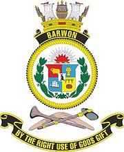 HMAS Barwon (K406), emblem