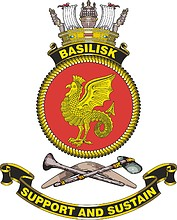 HMAS Basilisk, emblem