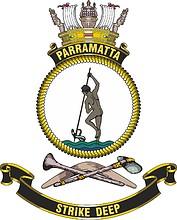 HMAS Parramatta (FFH 154), emblem