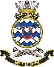 HMAS Quickmatch (F04), emblem