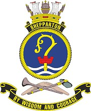 HMAS Shepparton, emblem
