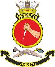 HMAS Vendetta, emblem