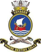 HMAS Voyager (D04), emblem