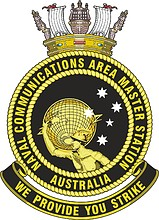 Naval Communications Area Master Station Australia (NAVCAMSAUS), emblem