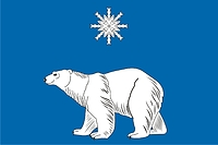 North Medvedkovo (Moscow), flag (2004, with snowflake star)