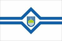 Birobidzhan (Jewish Autonomous oblast), flag (1998)