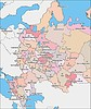 Karte von Russland (Europa-Teil, 1990s)