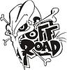 Off-Road-Schädel und Knochen Tattoo