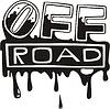 blutige Aufschrift Off-Road