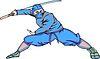 Ninja mit dem Schwert