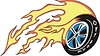 4x4 Rad Flamme