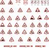 Warnung Verkehrszeichen