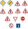 Priorität Verkehrszeichen