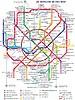 Karte von Moskauer U-Bahn (2016, in Englisch)
