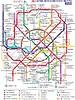 Karte von Moskauer U-Bahn (2014-2018, in Russisch)