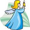 Vektor Cliparts: Engel mit Kerze