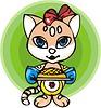 Vector clipart: baking cat