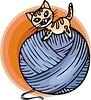 Vektor Cliparts: Katze