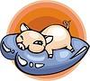 Vektor Cliparts: Schwein