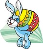 Easter rabbit carrying large egg