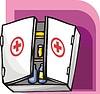 Vektor Cliparts: Erste-Hilfe-Set