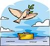 Vektor Cliparts: Taube über Arche Noah