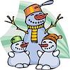 Familie von Schneemänner