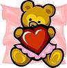 Bären-Mädchen mit Herz