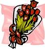 Strauß von roten Blumen
